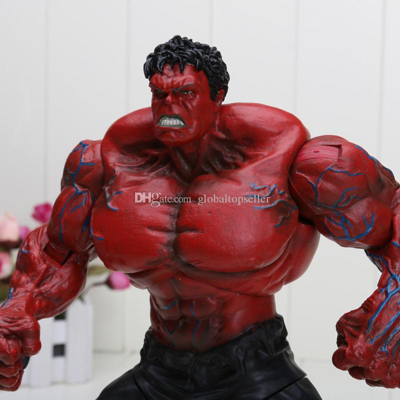 """10"""" Red Hulk Action Figure The Avengers PVC Figure Toy Hands Adjusted Movie Lovers Collection Model Toy"""