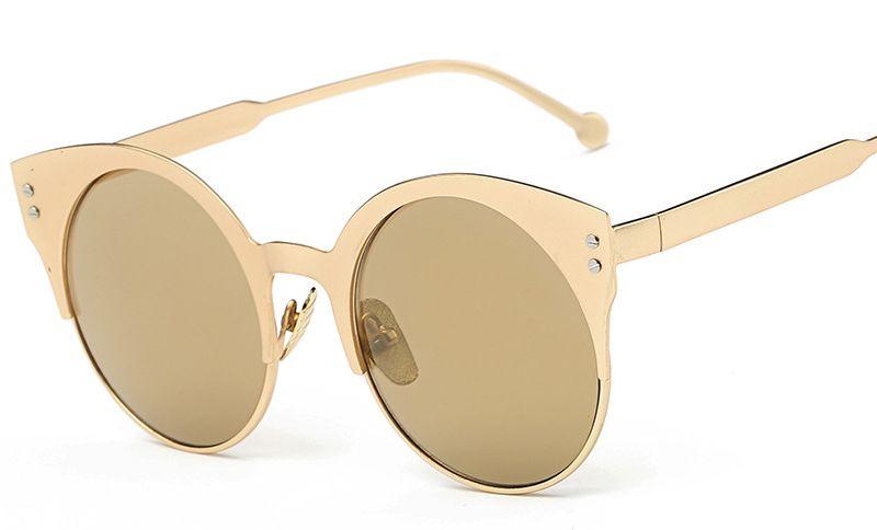 New Style Metal Circle Frame Sunglasses Women Multicolor Metal ...