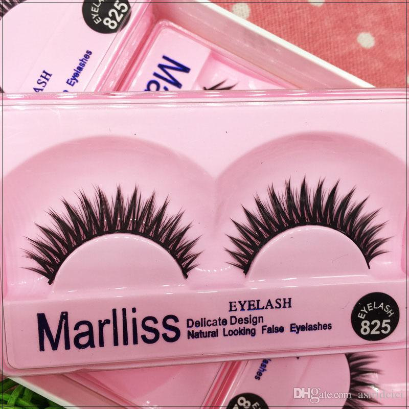 Handmade Fake eyelahes 825# Wholesale Eyelashes Natural cross thick lashes False eyelashes full strip lashes extension lashes