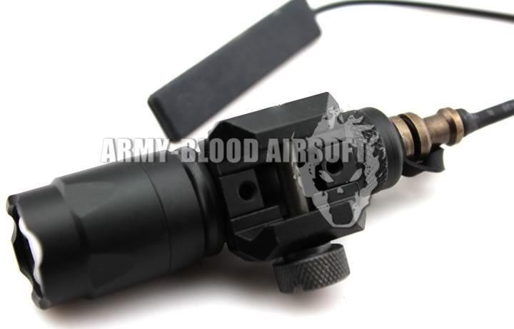 M300C LED CREE Mini Scout torch flashlight 20mm rail mount for hunting