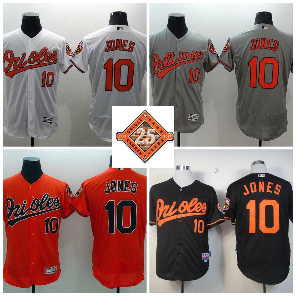 5f64a085c ... orange 2017 2017 mens baseball jersey baltimore orioles 10 adam jones  25th patch flexbase authentic cool