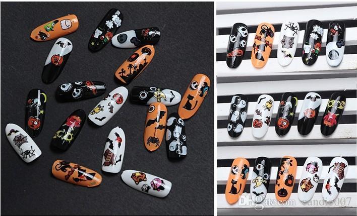 halloween nail art stickers nail art decals nail art tips nail art supplies nail polish designs from candie007 041 dhgatecom