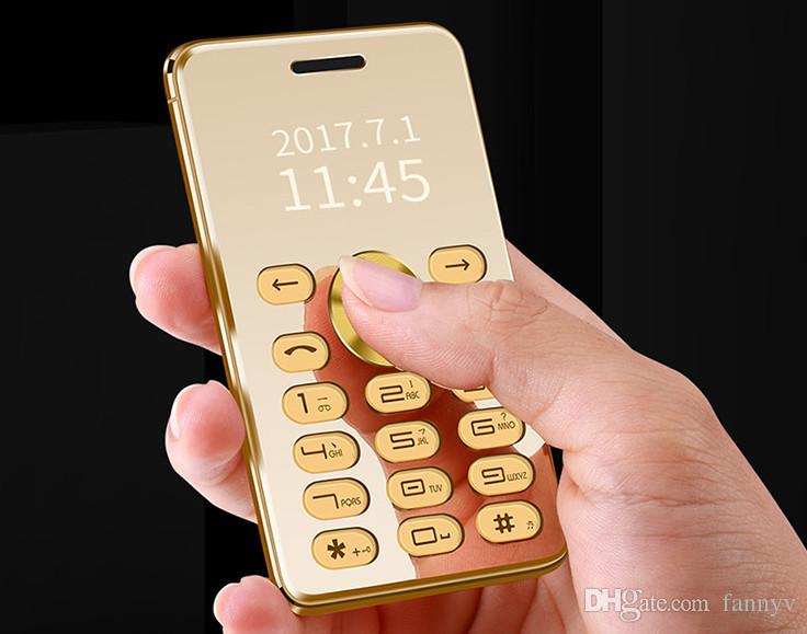 Fast New Arrival Full Metal Gold Luxury Mobile Phone Mini