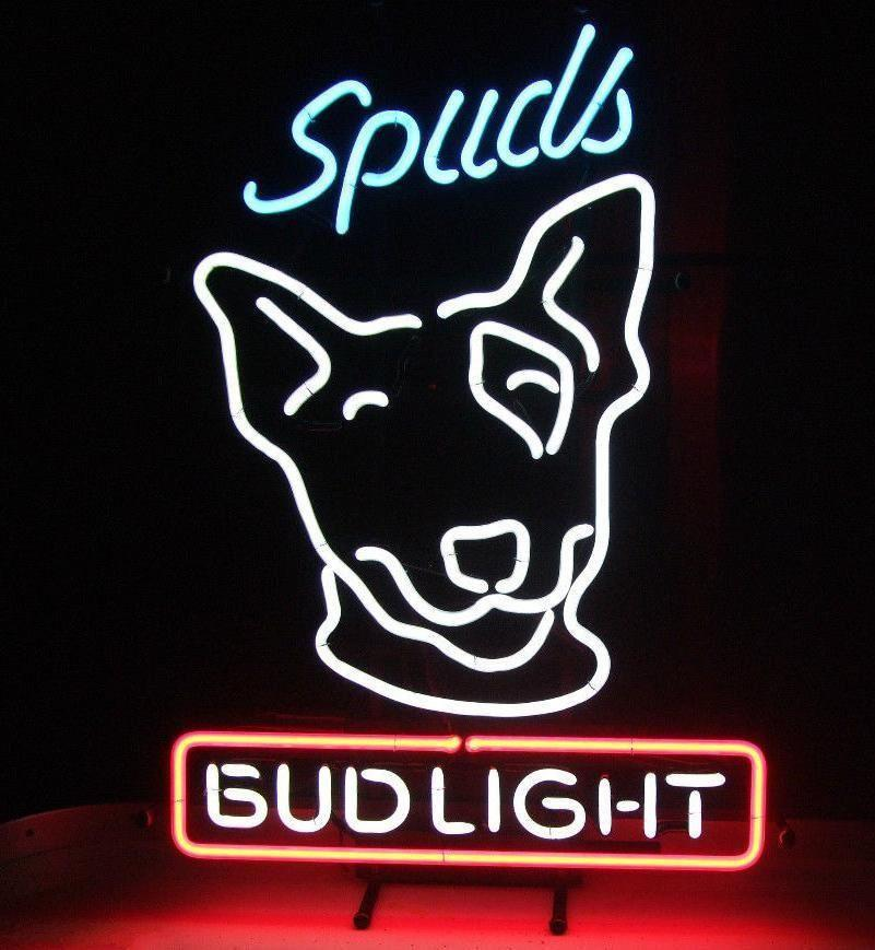 2019 new spuds mackenzie bud light budweiser neon sign custom