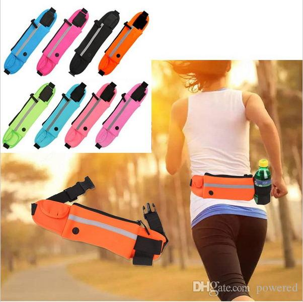 Active Outdoor Running Waist Bag Waterproof Mobile Phone Holder Jogging Belt Belly Bag Unisex Gym Fitness Bag Sport Packs 4 Colors Making Things Convenient For The People Relojes Y Joyas