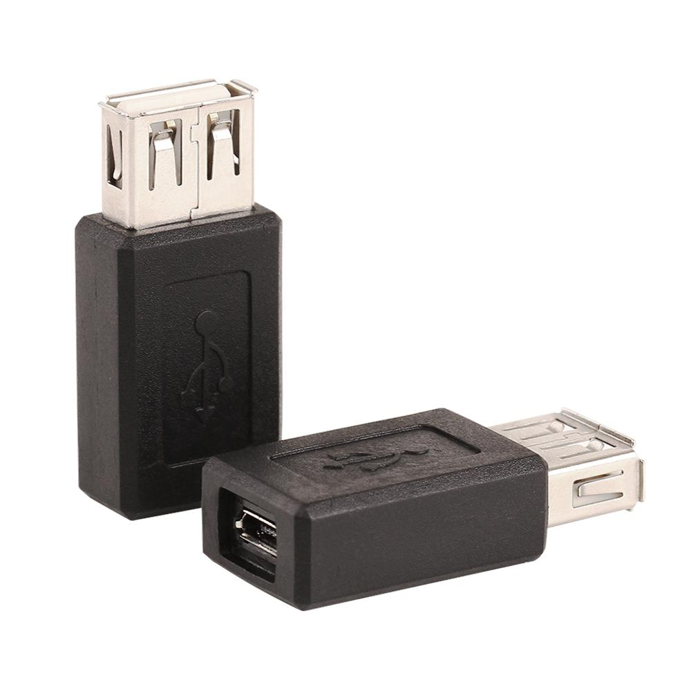 ZJT29 USB 2.0 A Female to USB Micro Female Adapter Converter