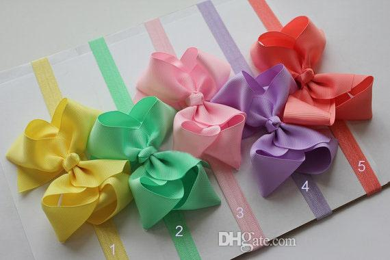 10% off 4inch big bow baby headbands pink infant grosgrain ribbon bow headband - baby girl hair bands newborn baby bow /