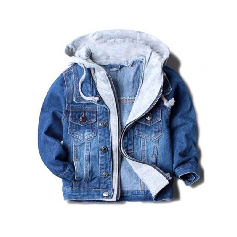 a7d055fe8 Autumn Handsome Boy Jackets Coats Hooded Children Kids Spring&Autumn Baby  Boys Denim Jackets Fashion Coats Kids Outwear High Qulity Toddler Boys  Winter ...