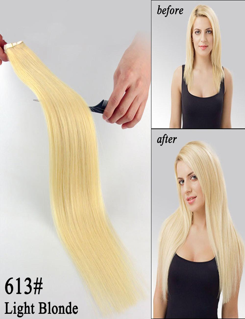 Tape In Human Hair Extensions Adhesive Skin Weft Hair Extensions 18