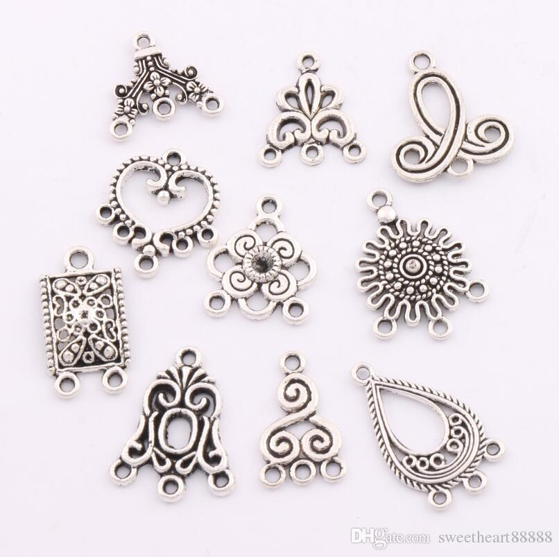 2018 Charms Pendants Earrings Connectors 10styles Tibetan ...