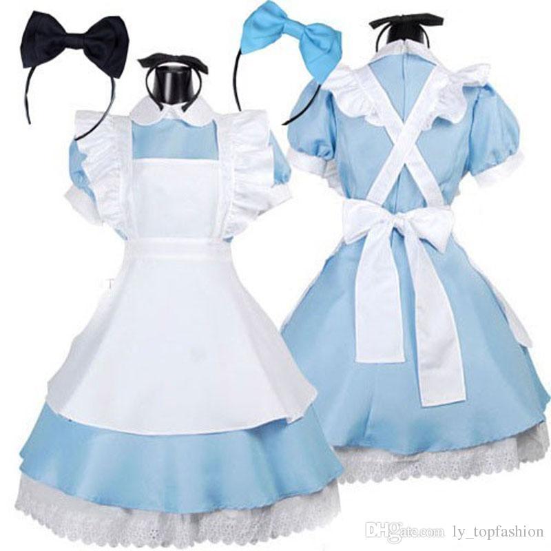 grosshandel heisser verkauf alice im wunderland kostum lolita kleid maid cosplay fantasie karneval halloween kostume fur frauen von ly topfashion