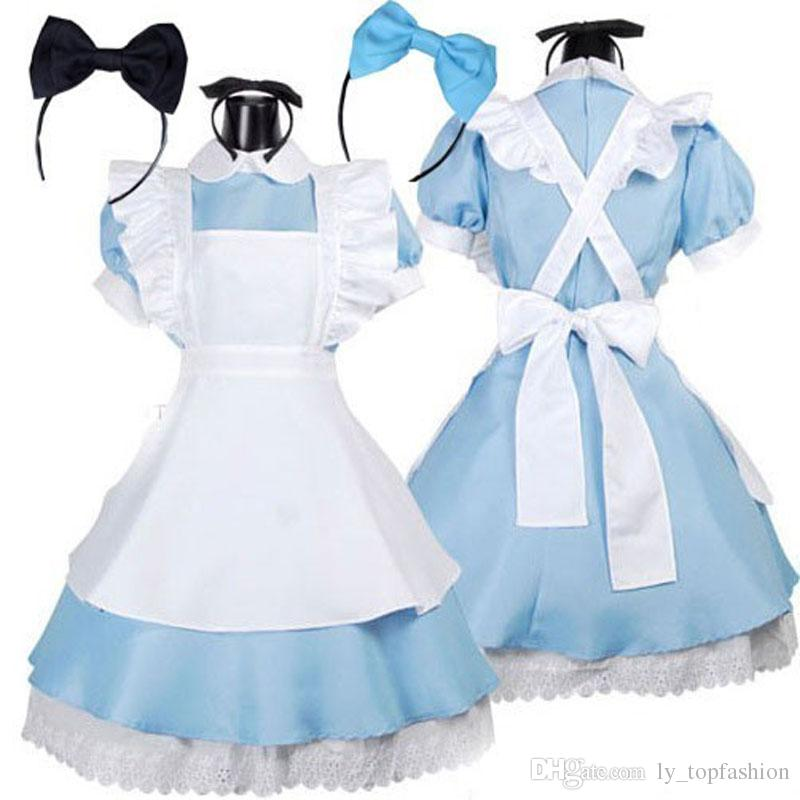 b6a8a2beac Hot Sale Alice in Wonderland Costume Lolita Dress Maid Cosplay Fantasia  Carnival Halloween Costumes for Women Lolita Dress Halloween Costumes for  Women Maid ...