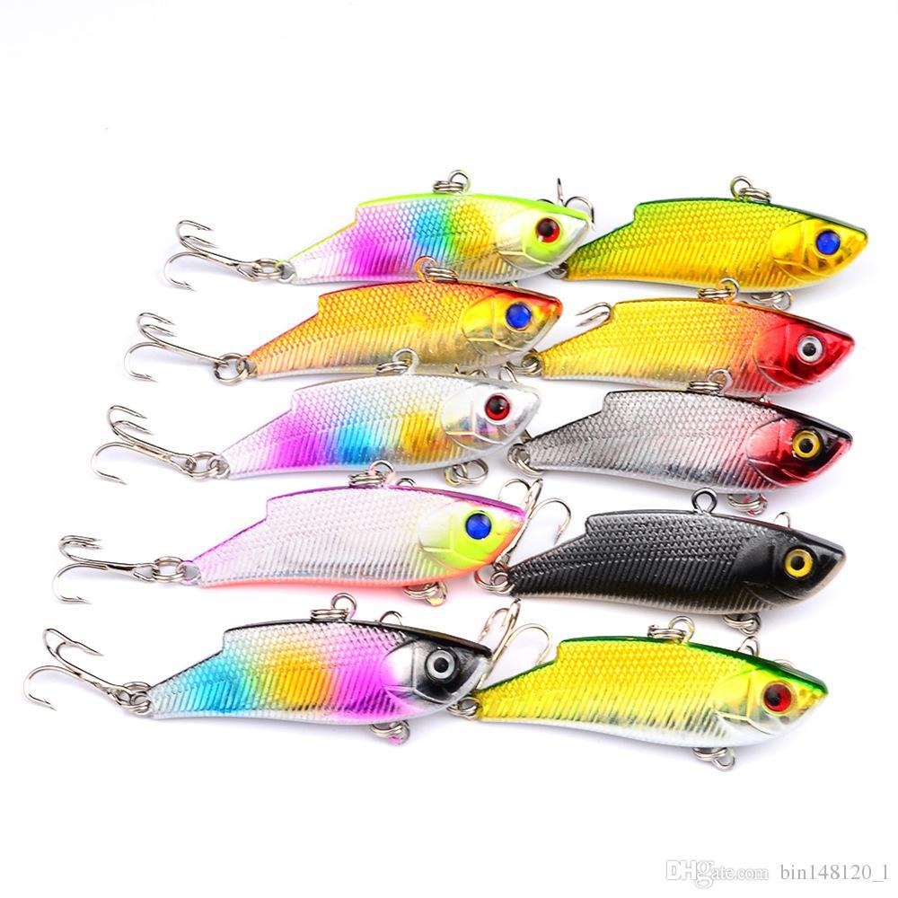 10 Цвет 5.5 см 9.7 г VIB рыболовные крючки 8# крючок рыболовная приманка жесткие приманки приманки Pesca рыболовные снасти B14_80
