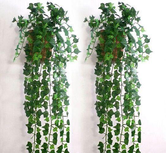 Hot Selling Artificial Ivy Leaf Garland Plants Vine Fake Foliage