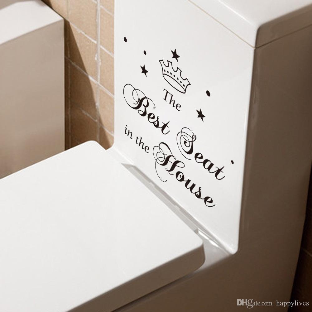 장식 스티커 변기 Art Wall 스티커 Quote 욕실 장식 Decal 비닐 홈 장식 개인화 된 Decals 벽