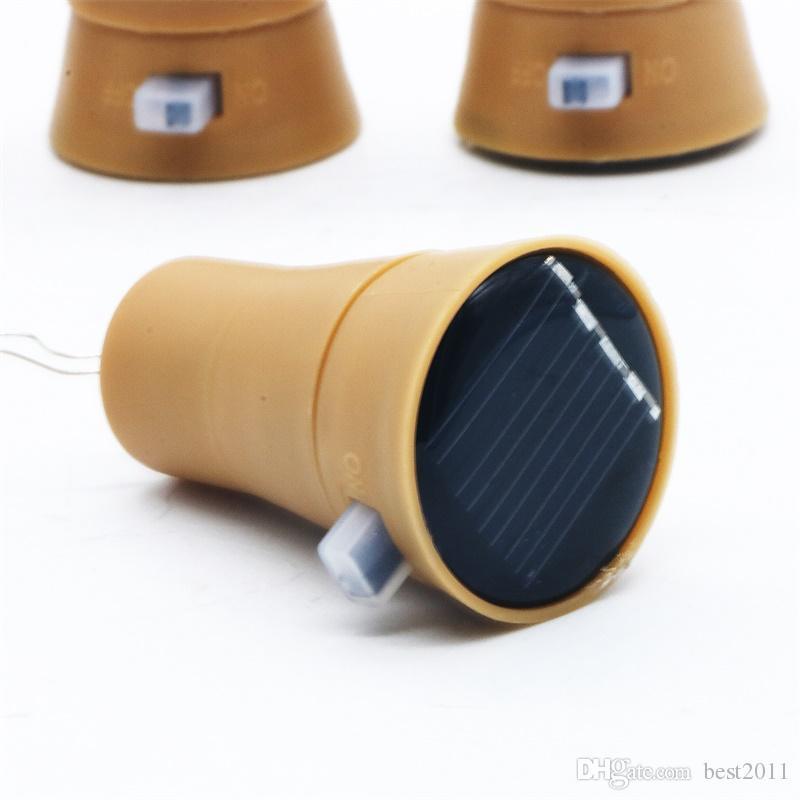 10 LED Rolha De Garrafa de Vinho Solar De Cobre Fio De Fada De Tira Ao Ar Livre Decoração Do Partido Novidade Noite Lâmpada DIY Luz Cortiça Corda