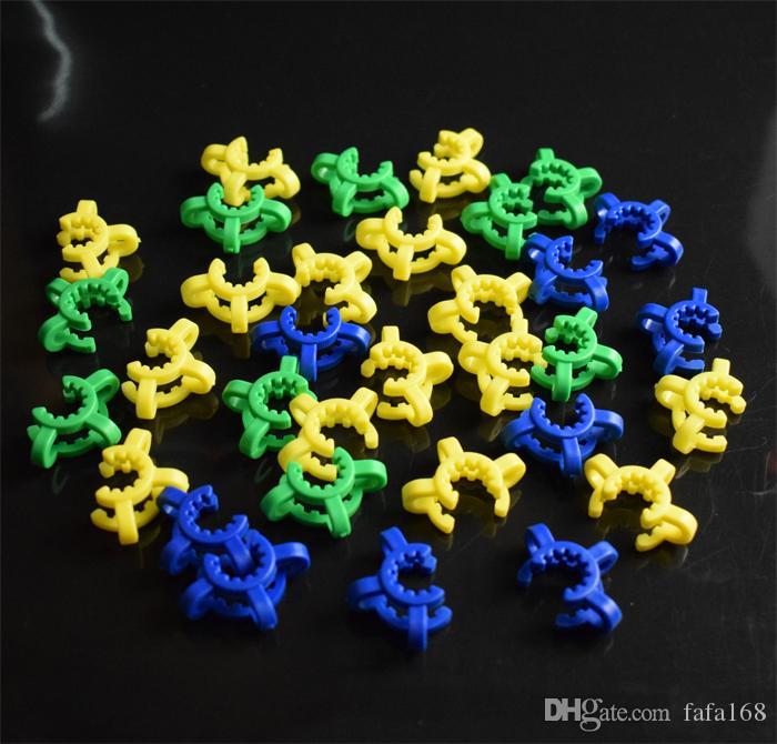 Vente chaude 10 14 19mm joint en plastique Keck Clip Clip en plastique Clip Lab Lab pour NC, vous pouvez choisir votre couleur préférée