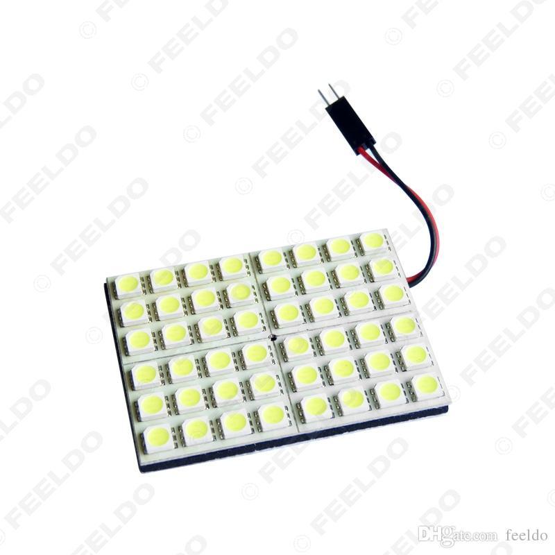 FEELDO Branco 48SMD 5050 Chip Car LED Light com 3 Adaptadores T10 / BA9S / Festoon Dome Lâmpadas # 3335
