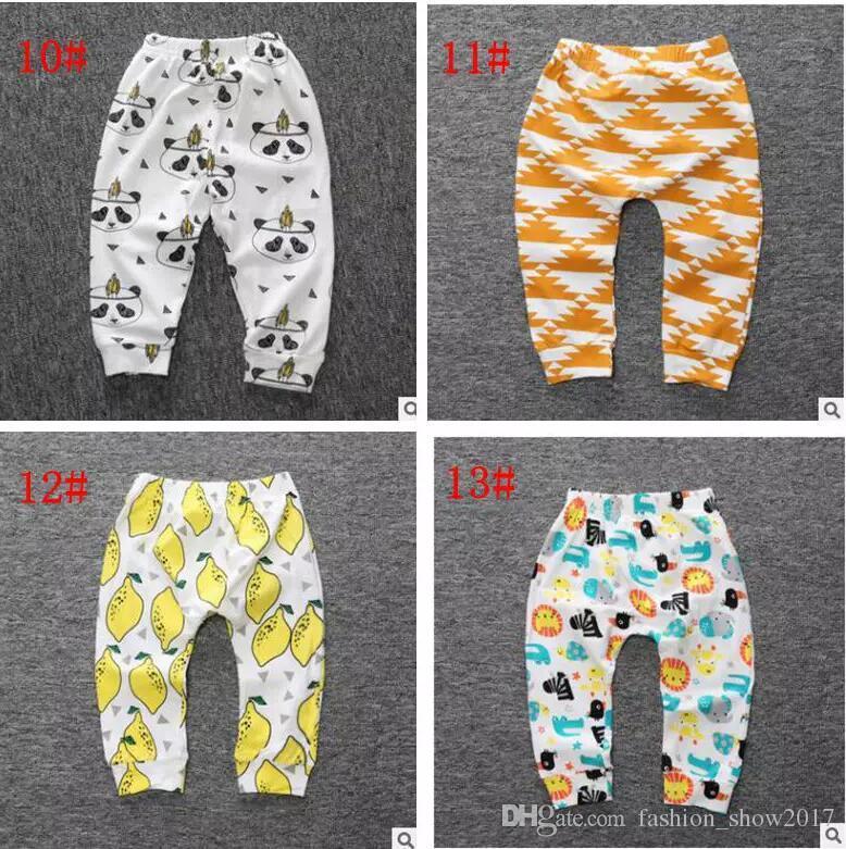 New Baby Toddler Boy Girl Cotton Lemon Leggings PP Pants Printed Pants Girl Fox Tights kids Trousers