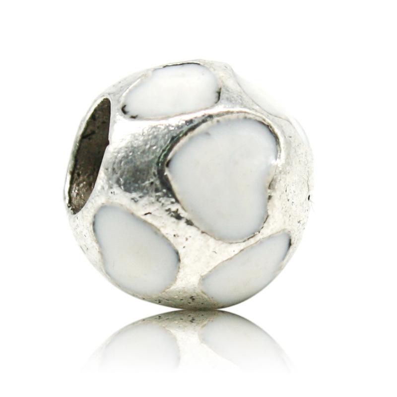 Big Hole Solta Pérolas Serve Pulseiras Pandora Europeu Charme Colares Doce Coração Decoração para Jóias DIY