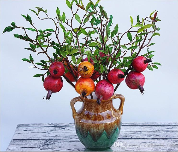 Exceptionnel New Pomegranate Branch Artificial Fruit Home Decor Christmas Table  Decoration Soft Outfit Houseware Fake Flower Autumn Classic Decoration  Decoration For The ...