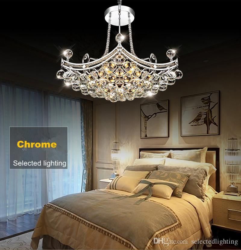 Lámparas de cristal grandes de lujo Lámpara de cristal claro Diseño del techo de la lámpara del lustre para la luz decorativa casera