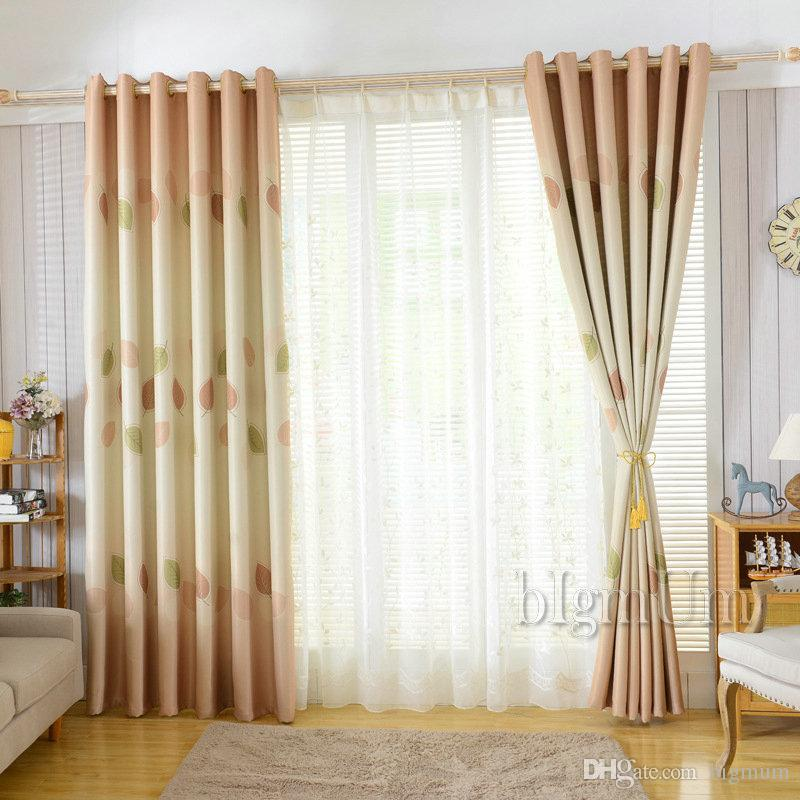 New Arrival Rustic Pastoral Window Curtains For Living