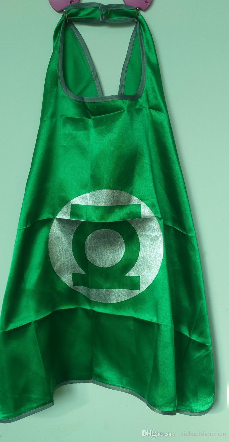15 Arten einschichtig schließen Logo 70 * 70CM Superheld-Umhänge und Maskensatz ein Superheld cosplay capes + mask Halloween-Kapmaske für Kinder / set