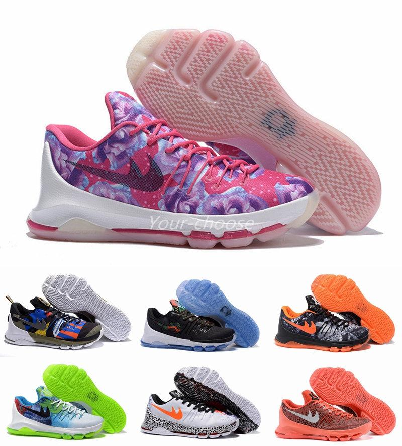 New 2016 Kevin Durant KD 8 Men Basketball Shoes KD8 Aunt Pearl BHM ...