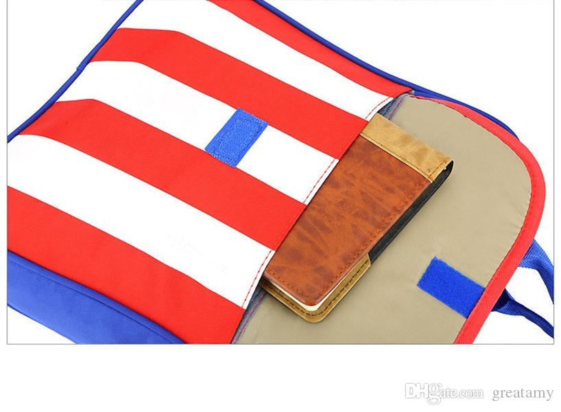 Impermeabile 32CM Stampa Star Stripes Bandiera ragazzo regalo Borse Bambini Ragazzi Ragazze Sacchetto di scuola Ragazze Zaino Ragazzi Sacchetto di scuola