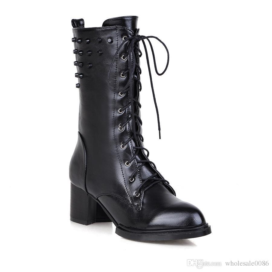 Automne et hiver nouvelle Europe et les États-Unis bottes à talons hauts bottes à talons hauts bottes en cuir en cuir,marron,40