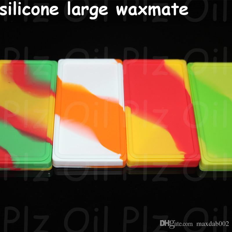 Scatole Aggiorna i contenitori di cera del silicio antiaderente 10 14 18mm 6 in 1 Titanio Nail Silicone Grande Mate Pad Fit Pipes