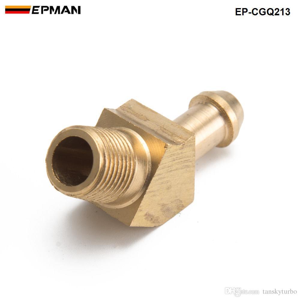 EPMAN-латунь наддува шланг колючка для наружной резьбы 45 градусов Локоть фитинг для Garrett T2 T3 Turbo 1/8