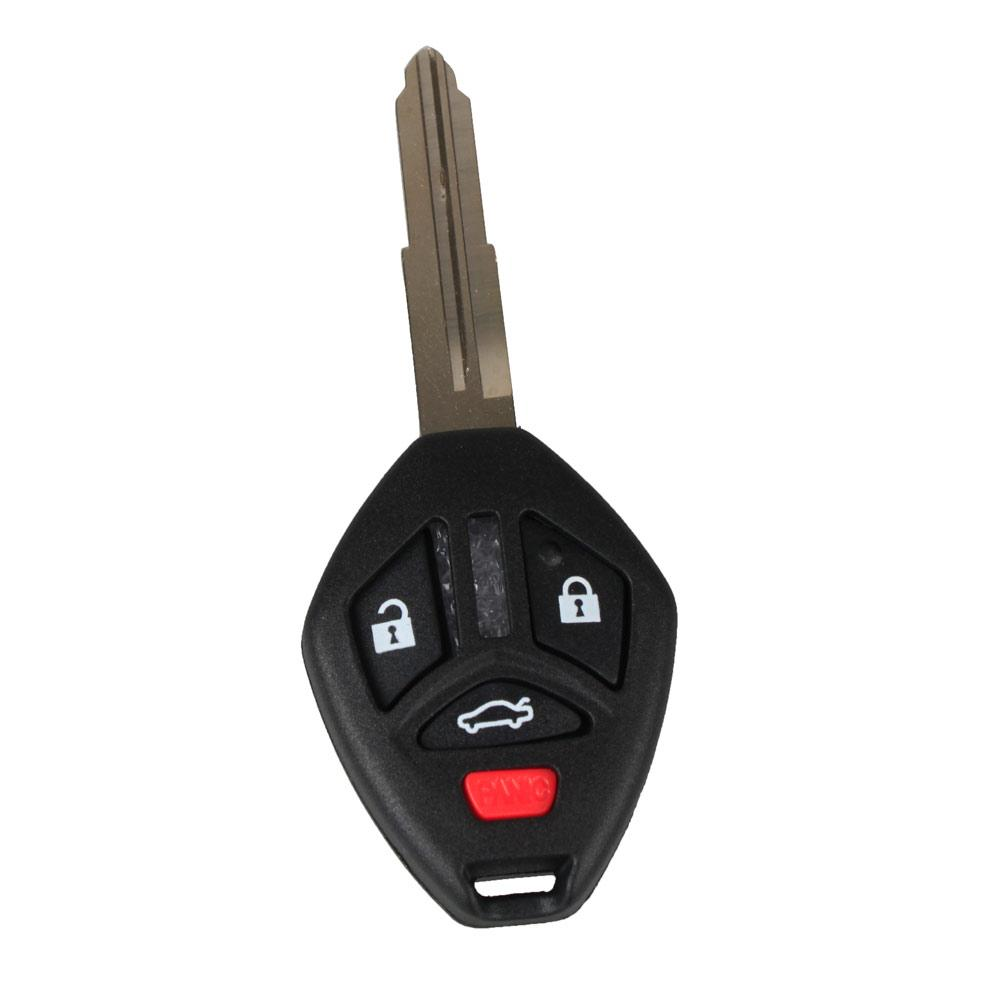 Guaranteed 100% 4 Buttons Left Groove Car Replacement Remote Key Fob Case Key Shell Housing For Mitsubishi