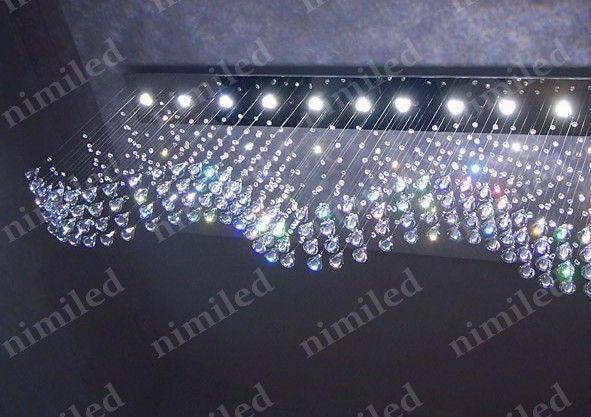 Nimi793 L100 * W20 * H65cm Ali Volare LED Rettangolare Soggiorno Luci Ristorante Lampadario A Sospensione Lampade a Filo Luce Pendente Illuminazione a sospensione