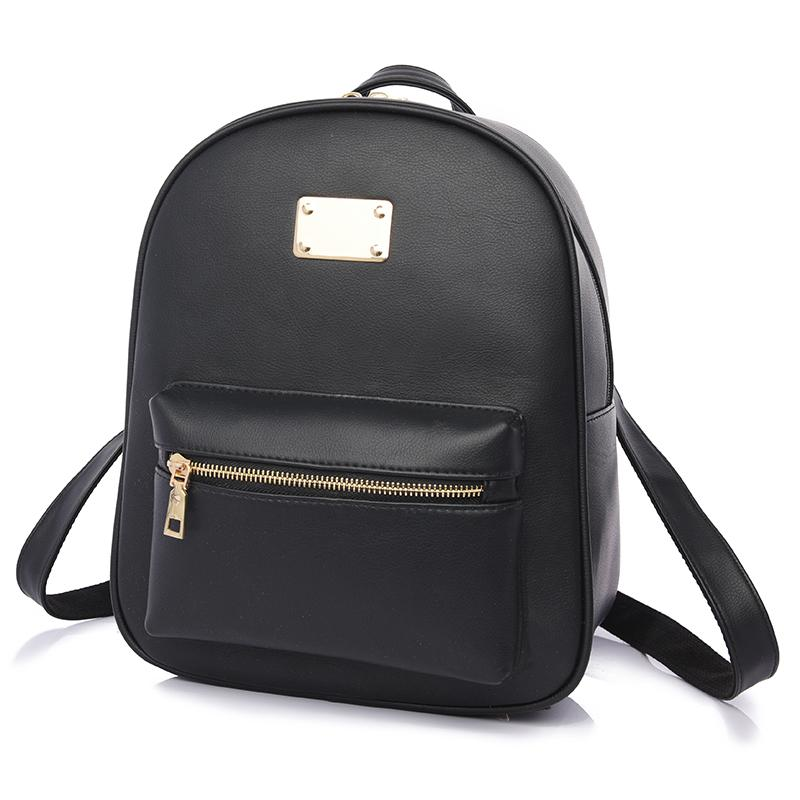 b5d5bf0a9d3 Fashion Women Backpack For Girls 2016 Backpacks Black Backpacks Female  Fashion Girls Bags Ladies Black Backpack 1538