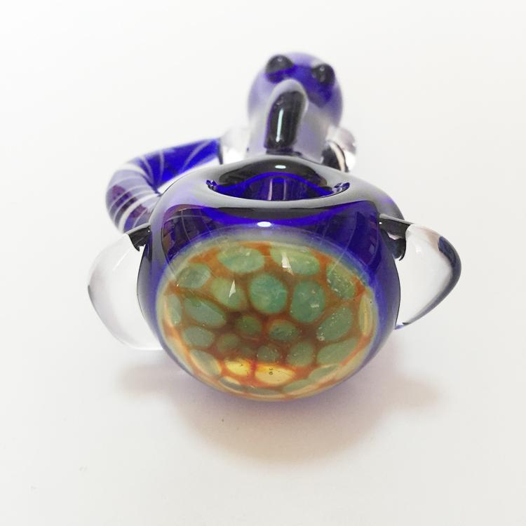 Glas Bubbler Rohre Handgemachte Glaspfeife Für Rauchen Löffel Rohre Glas Tabak Für Rauchen ca. 9 cm Länge Mini Bong