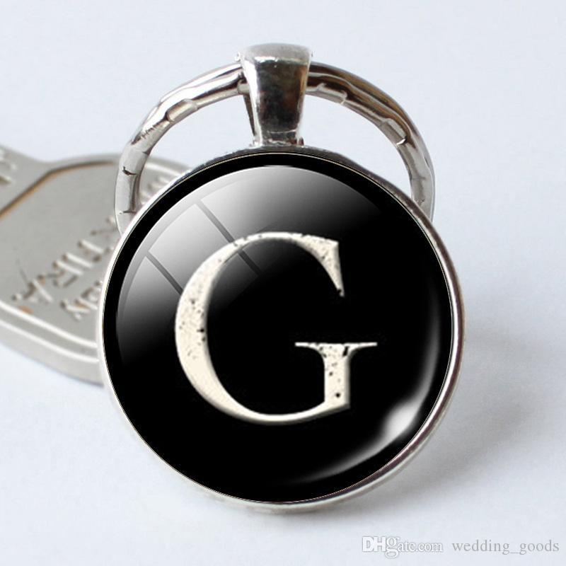 Лучший подарок время драгоценный камень стеклянные украшения 26 английские буквы брелок кулон KR400 брелки смешать порядка 20 штук много