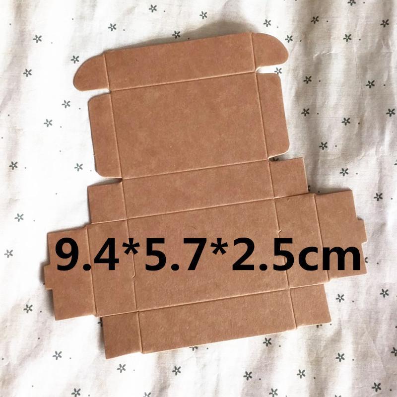 Großhandel 50 Stück 9,4 * 5,7 * 2,5 Cm Kraftpapier Geschenkbox Für ...