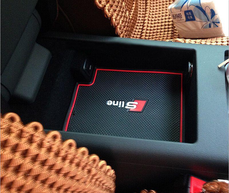 Высокое качество ворота слот Pad резиновый автомобиль нескользящей Кубок мат автомобильные аксессуары для Audi A6 C6 2005-2011 A6 C7 2012-2015 стайлинга автомобилей