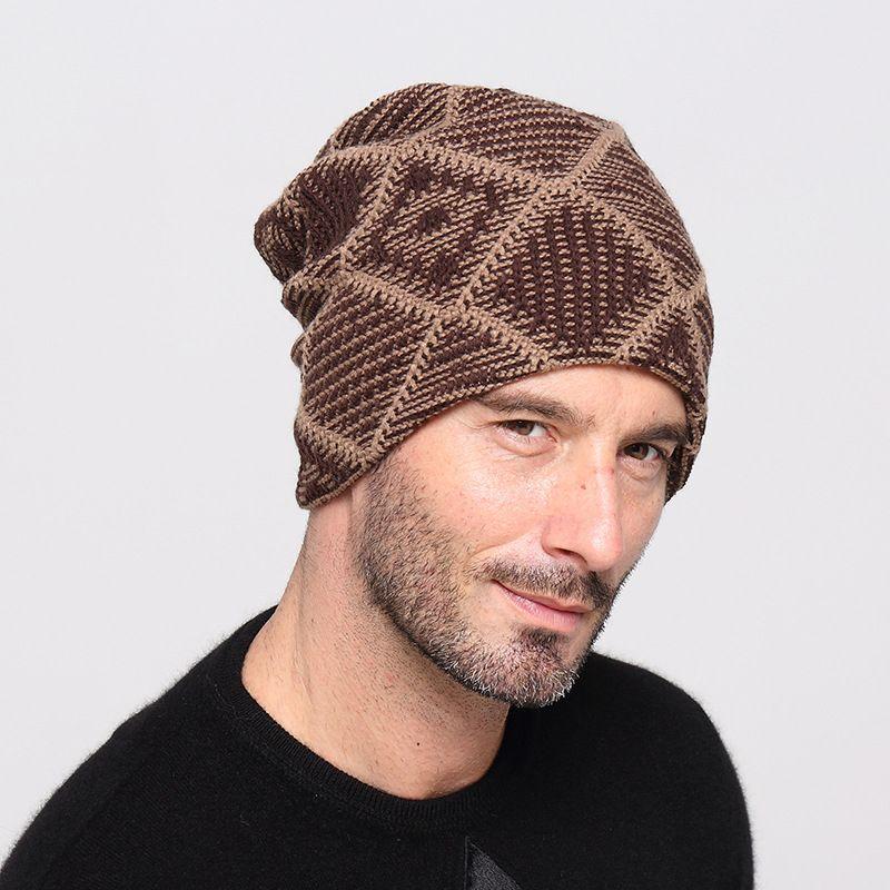 419bf77881f Autumn Winter Plaid Beanies For Women Men Warm Soft Beanie Skull Knit Cap  Hats Trend Knitted Gorro Ski Caps For Unisex GH 116 Crochet Beanie Pattern  Beard ...