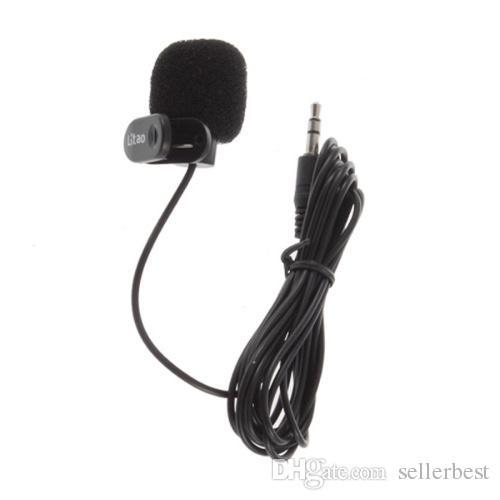 Microfoni cablati Microfono da 3,5 mm Mini Studio Microfono Microfono w / clip PC Desktop Notebook Mac Microfone all'ingrosso