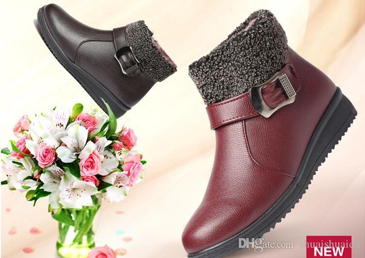 2017. Winter. Samt, warm halten. Damen Stiefel. Baumwolle gepolsterte Schuhe. Damenschuhe. Mode Freizeitschuhe. Rutschfest wasserdicht. Schneestiefel. PU