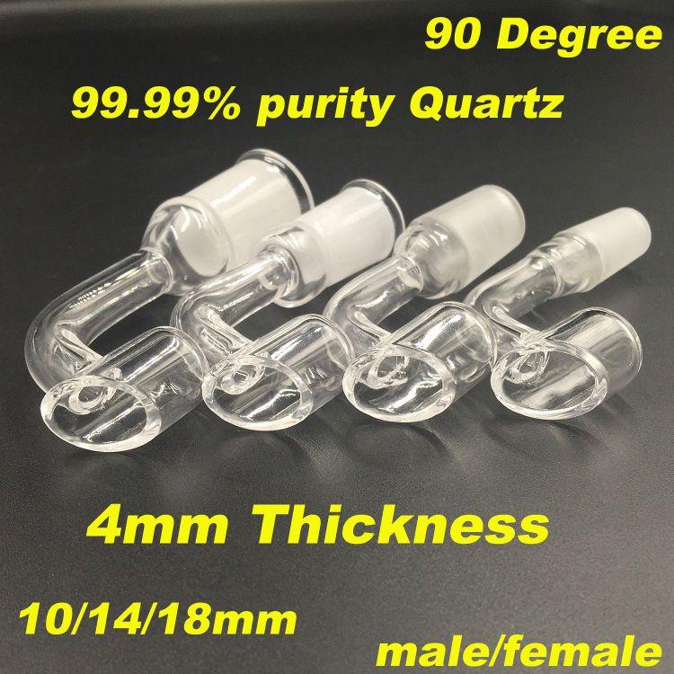 4mm di spessore club Banger Domeless chiodo del quarzo 10mm / 14mm / 18mm maschio femmina giunto 100% unghie al quarzo reale piattaforme petrolifere bong di vetro