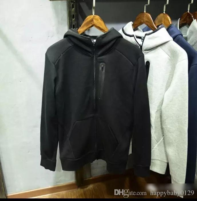 Sweat-shirt en coton à air pour hommes de marque, automne nouveau pull à capuche à capuche hommes gris noir