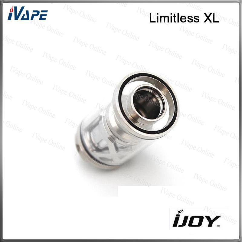 100% Original iJoy Limitless XL RTA Tank 4 ml Sub Ohm Zerstäuber mit 0,15 Ohm Light-up Chip Coil Deck System Rebuildable und Swappable
