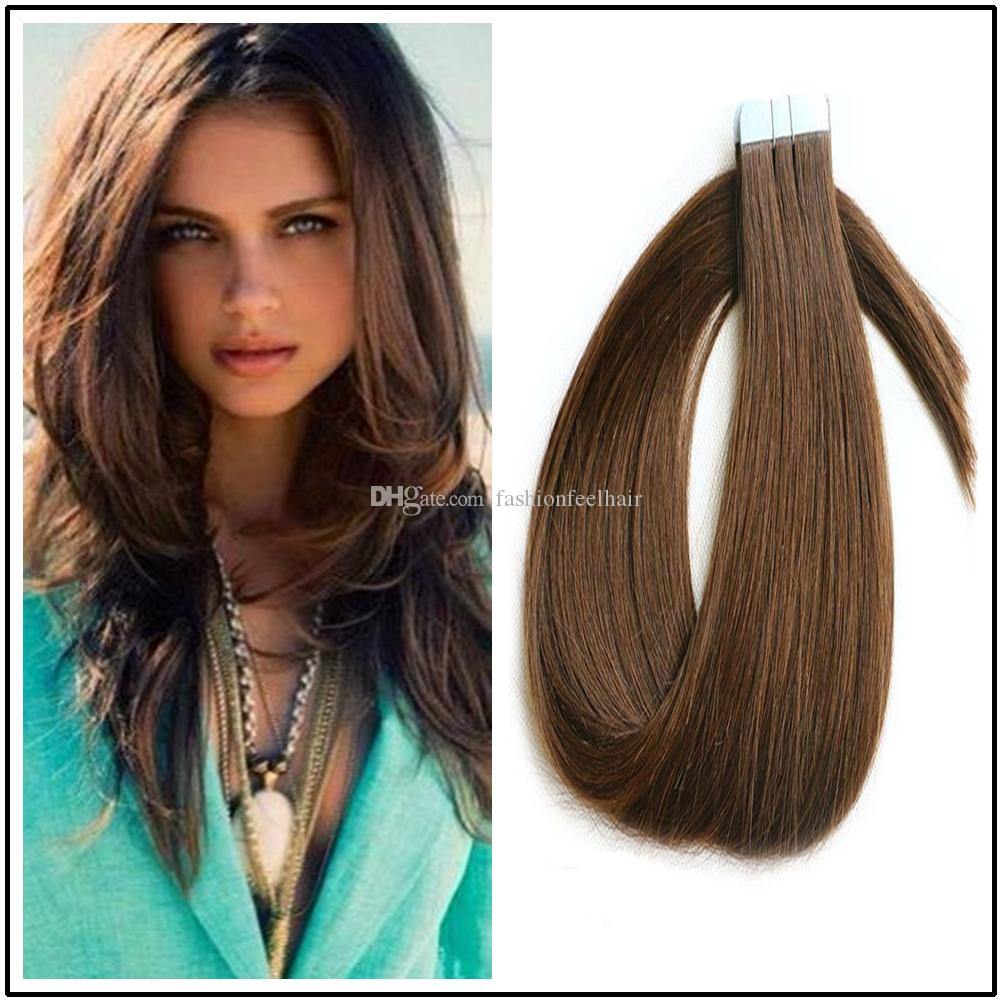 Invisible Pu Skin Weft Hair Extensions 100 Indian Human Hair Tape