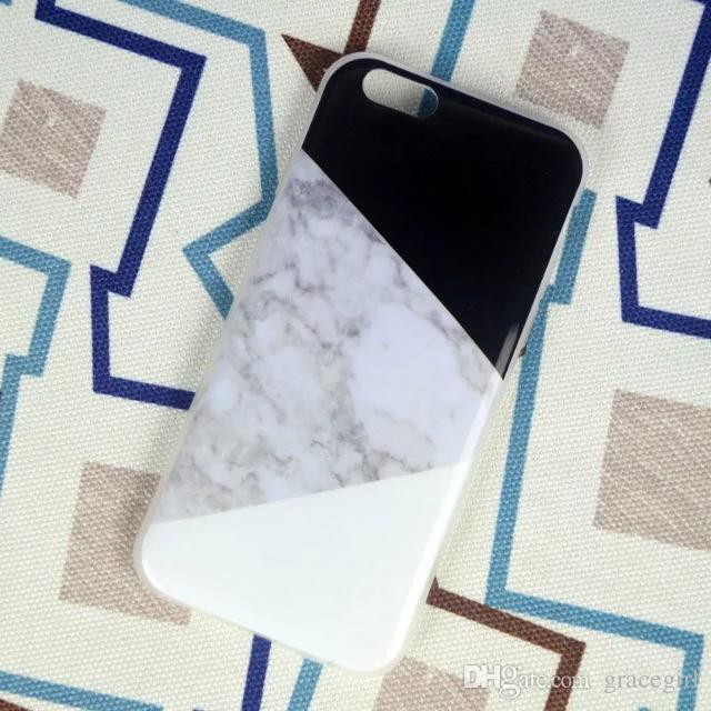 Marble Granite Rock Stone Soft TPU Case For Iphone 7 7PLUS I7 Iphone7 6 6S Plus I6 SE 5 5S Letter Silicone Gel Cell Phone Cover Skin