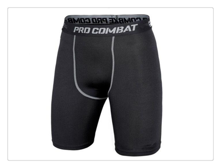 Calções Da Bicicleta Da Bicicleta Lycra Meias de Compressão dos homens Camada de Base Underwear Shorts. Ciclismo Correndo. Caixa de Futebol Basquete Futebol Preto