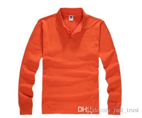 Top sales Golf men Polo shirts Spring business men long sleeve cotton embroidery Polos Custom made long Dress Polo shirts